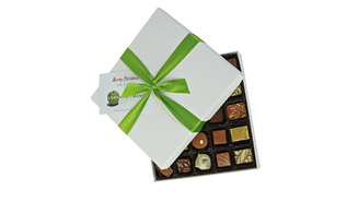 25-chocolate box, Full-colour printed gift card