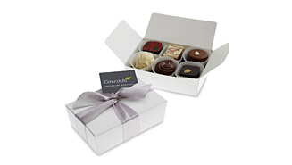 6-chocolate box, Full-colour printed gift card
