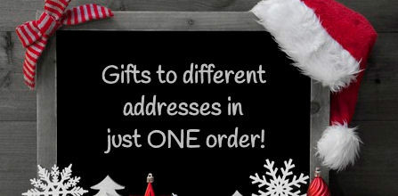 Split delivery of your Christmas gifts
